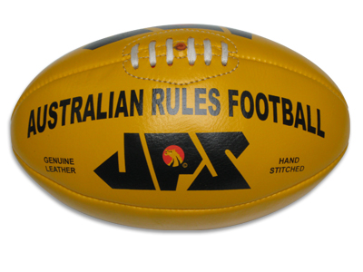 Yellow Leather Aussie Rules Footballs